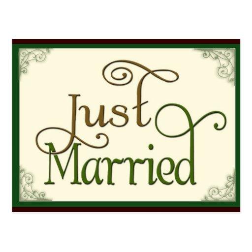Apenas casado en fuente de la diversión del remoli tarjeta postal