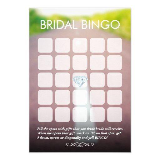Apenas casado en las tarjetas nupciales del bingo  comunicado personalizado