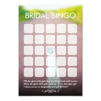 Apenas casado en las tarjetas nupciales del bingo invitación 8,9 x 12,7 cm