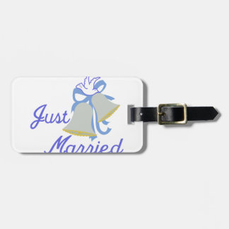 Apenas casado etiquetas para maletas
