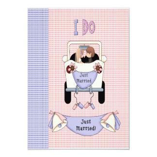 Apenas casado invitación 12,7 x 17,8 cm