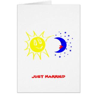 Apenas casado tarjeton