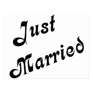 ¡Apenas casado! Postal
