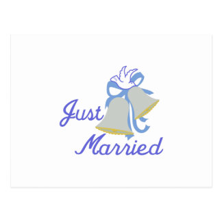 Apenas casado postal