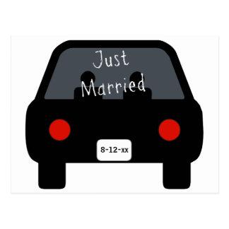 Apenas coche casado postal