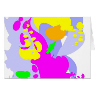 Apenas color tarjeta de felicitación
