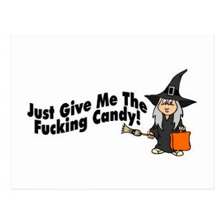 Apenas déme el caramelo (la bruja) postales
