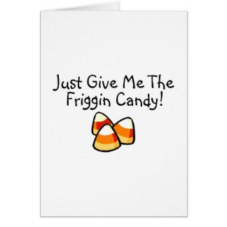 Apenas déme las pastillas de caramelo del caramelo tarjeton