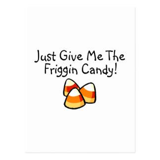 Apenas déme las pastillas de caramelo del caramelo postal