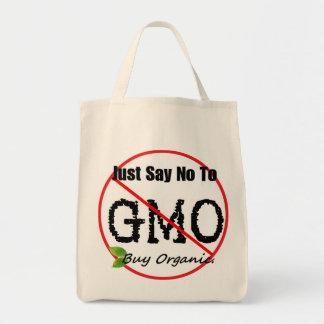 APENAS DIGA NO al tote del ultramarinos de GMO Bolsa Tela Para La Compra