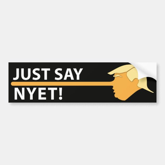 Apenas diga Nyet (en negro) Pegatina Para Coche