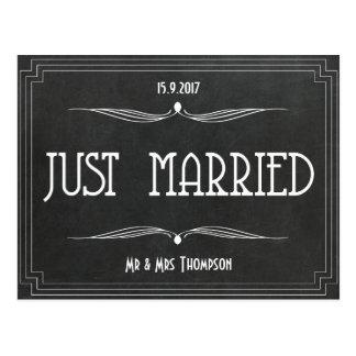 Apenas el art déco casado le agradece favorecer postal