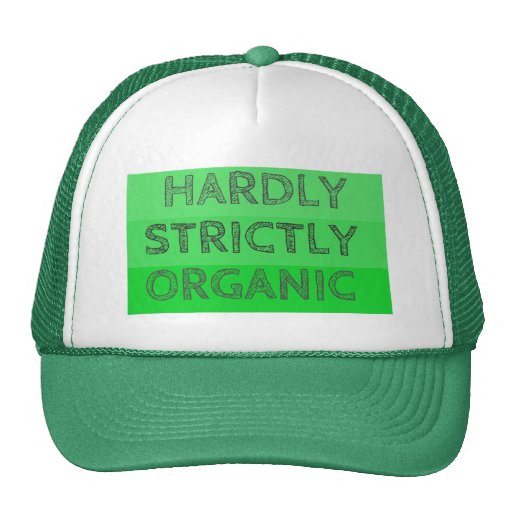 Apenas estrictamente orgánico gorra