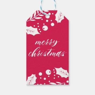 Apenas etiquetas casadas del regalo del navidad etiquetas para regalos