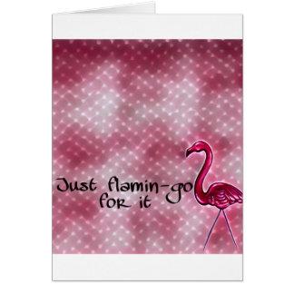 Apenas flamenco para él tarjeta inspirada