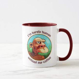Apenas humano sin el café taza