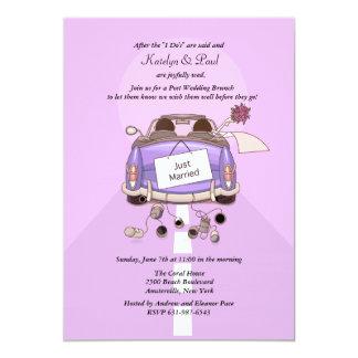 Apenas invitación casada del brunch del boda de 2
