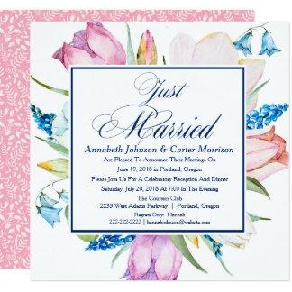 """""""Apenas"""" invitación casada floral del boda"""