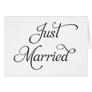 Apenas invitación de boda casada tarjeton