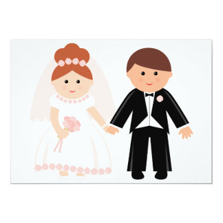 Apenas invitaciones casadas de los pares invitación 12,7 x 17,8 cm