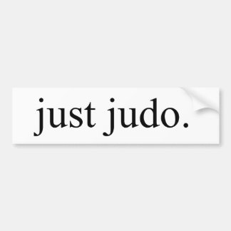 Apenas judo pegatina de parachoque