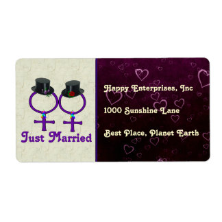 Apenas lesbiana formal casada etiqueta de envío