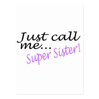 Apenas llámeme hermana estupenda postal