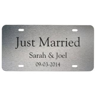 Apenas matrícula de plata gráfica casada