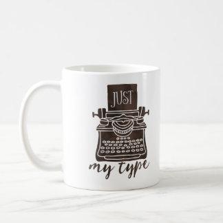 Apenas mi tipo lector del café de la taza del