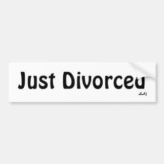 Apenas negro divorciado en la pegatina para el par pegatina de parachoque