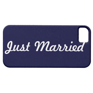 Apenas novio casado de la caja del teléfono iPhone 5 Case-Mate fundas