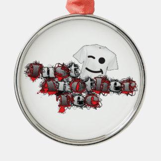 Apenas otros logotipo 2014 de la camiseta adorno navideño redondo de metal