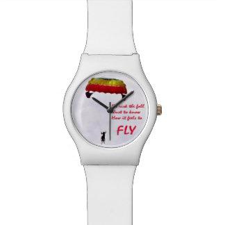 Apenas para saber siente para volar relojes de pulsera