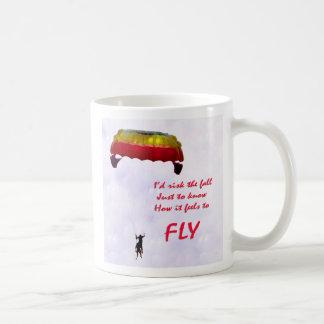 Apenas para saber siente para volar taza básica blanca