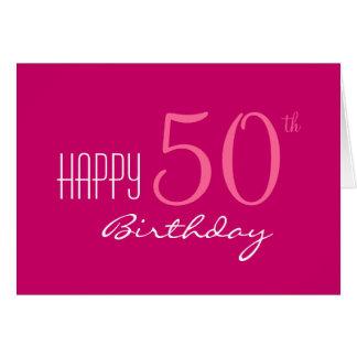 Apenas para su 50.o cumpleaños tarjeta de felicitación