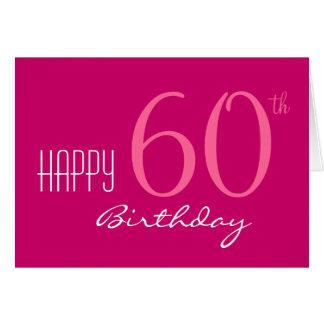 Apenas para su 60.o cumpleaños tarjeta de felicitación