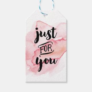 Apenas para usted marca etiquetas simples del amor