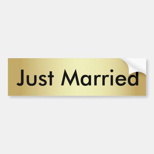 Apenas pegatina para el parachoques casada del oro