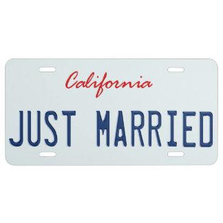 Apenas placa casada