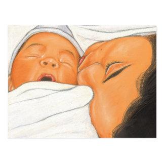 Apenas postal recién nacida nacida