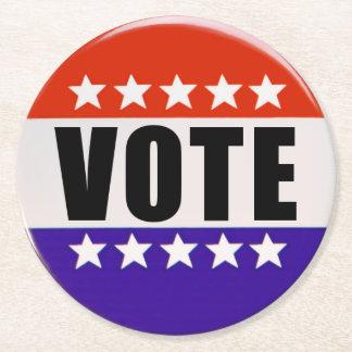 Apenas prácticos de costa redondos del voto posavasos de papel redondo