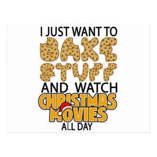 apenas quiero cocer la materia y el navidad del postal