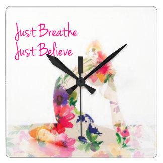 Apenas respire el reloj