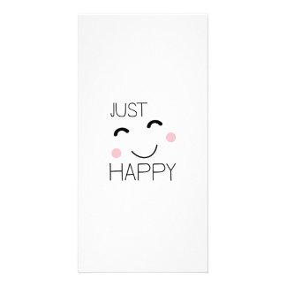 Apenas smiley feliz tarjeta fotografica