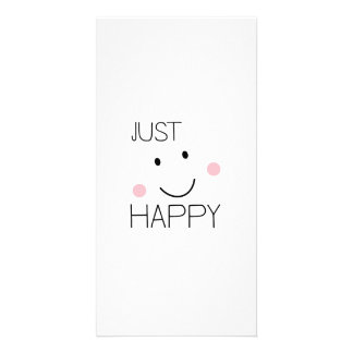 Apenas smiley feliz tarjeta fotografica personalizada