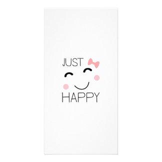 Apenas smiley feliz tarjeta fotográfica personalizada