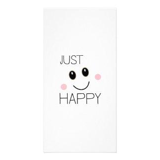 Apenas smiley feliz tarjetas fotograficas personalizadas