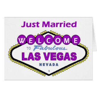 Apenas tarjeta casada de la invitación de Las Vega