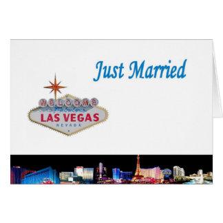 Apenas tarjeta casada de Las Vegas