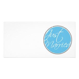 Apenas tarjetas casadas de la invitación plantilla para tarjeta de foto